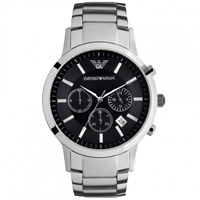 Buy Armani Watches AR2434 Classic Stainless Steel Mens Chronograph Watch online