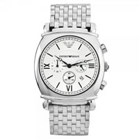 Buy Armani Watches Classic Stainless Steel Mens Chronograph Watch AR0315 online