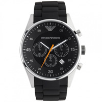 Buy Armani Watches Classic Black Mens Chronograph Watch AR5858 online