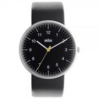Buy Braun Watches Black Leather Mens Watch BN0021BKBKG online