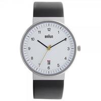 Buy Braun Watches Black Leather Mens Watch BN0032WHBKG online