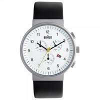 Buy Braun Watches Black Leather Mens Chronograph Watch BN0035WHBKG online