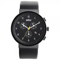 Buy Braun Watches Black Leather Mens Chronograph Watch BN0035BKBKG online