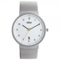 Buy Braun Watches Silver Mesh Mens Watch BN0032WHSLMHG online