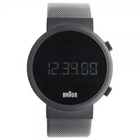 Buy Braun Watches Black Mesh Mens Digital Watch BN0036BKBKMHG online