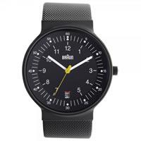 Buy Braun Watches Black Mesh Mens Watch BN0082BKBKMHG online
