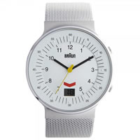 Buy Braun Watches Silver Mesh Mens Watch BN0087WHSLMHG online