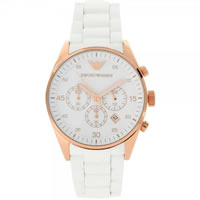Buy Armani Watches White and Gold Mens Chronograph Watch AR5919 online