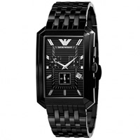 Buy Armani Watches AR0475 Stainless Black Mens Watch online