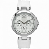 Buy Armani Watches AR0736 White Silicon Womens Watch online