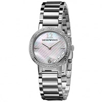 Buy Armani Watches AR0746 Ladies Silver Stainless Steel Watch online