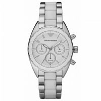 Buy Armani Watches AR5940 Sports Luxe Chronograph Ladies Silver Watch online