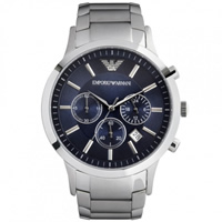 Buy Armani Watches AR2448 Gents Silver Stainless Steel Watch online