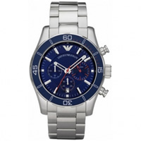 Buy Armani Watches AR5933 Gents Silver Stainless Steel Watch online