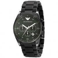 Buy Armani Watches AR5922 Gents Black Stainless Steel Watch online