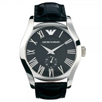 Buy Armani Watches AR0643 Gents Black Leather Watch online
