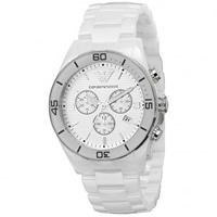 Buy Armani Watches AR1424 Gents White Ceramic Watch online