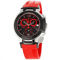 Buy Tissot Watches T048.417.27.057.02 Red Chronograph Mens Watch online