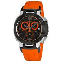 Buy Tissot Watches T048.417.27.057.04 Orange Chronograph Mens Watch online
