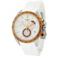 Buy Tissot Watches T024.417.27.011.00 White Chronograph Mens Watch online