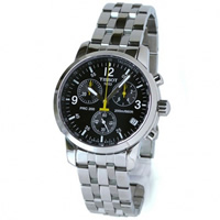 Buy Tissot Watches T17.1.586.52 Silver Chronograph Mens Watch online