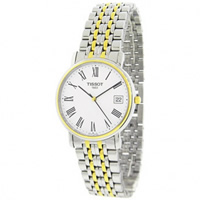 Buy Tissot Watches T52.2.481.13 Silver and Gold Gents Watch online