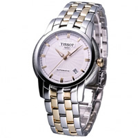 Buy Tissot Watches T97.2.483.31 Silver and Gold Gents Automatic Watch online