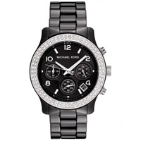 Buy Michael Kors Watches Unisex Chronograph Black Ceramic Watch MK5190 online