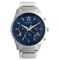 Buy Accurist Watches Silver Gents Chronograph Watch MB896N online