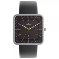 Buy Braun Watches Grey Leather Mens Watch BN0042GYGYG online