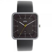 Buy Braun Watches Grey Leather Mens Watch BN0042GYGYG online