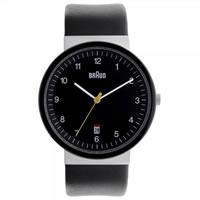 Buy Braun Watches Black Leather Mens Watch BN0032BKSLBKG online