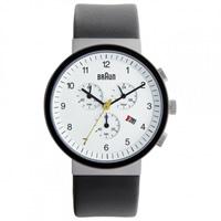 Buy Braun Watches Black Leather Mens Chronograph Watch BN0035WHSLBKG online