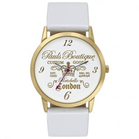 Buy Paul's Boutique Watches White Leather Womens Watch PA013GDGD online