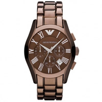 Buy Armani Watches AR1610 Mens Brown Chronograph Watch online