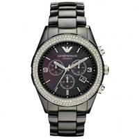 Buy Armani Watches AR1455 Ladies Black Crystal Ceramica Watch online