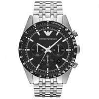 Buy Armani Watches AR5988 Mens Silver Tazio Classic Watch online