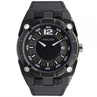 Buy Police Watches PL12696JVSB-02 Marshall Mens Black Leather Watch online