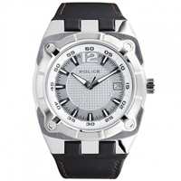 Buy Police Watches PL12696JVS-04 Marshall Mens Black Leather Watch online