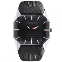 Buy Police Watches PL12176JS-02A Vector Mens Black Leather Watch online