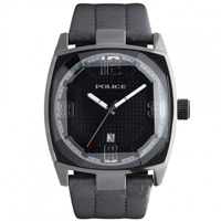 Buy Police Watches PL12963JSB-02 Edge Mens Black Leather Watch online
