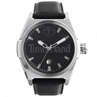 Buy Timberland Watches 13329JS-02 Back Bay mens black leather watch online
