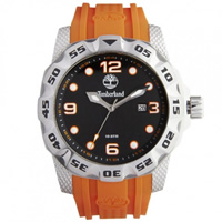 Buy Timberland Watches 13317JS-02A Belknap Mens Orange Rubber Watch online