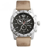 Buy Timberland Watches 13318JS-02 Front country Mens Beige Genuine Leather strap Watch online