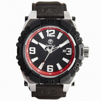 Buy Timberland Watches 13321JSTB-02 Hookset Mens Black Genuine Leather Pad And Nylon Strap Watch online