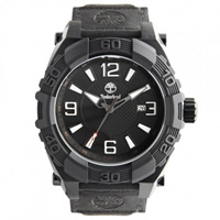 Buy Timberland Watches 13321JSB-02 Hookset Mens Black Genuine Leather Pad And Nylon Strap Watch online