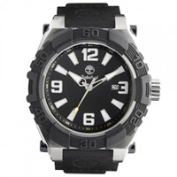 Buy Timberland Watches 13321JSTB-02B Hookset Mens Black Genuine Leather Pad And Nylon Strap Watch online