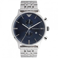 Buy Armani Watches Emporio Armani Gianni Watch AR1648 Mens Blue Steel Watch online