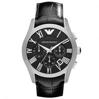 Buy Emporio Armani Watches AR1633 Mens  Black Leather Watch online