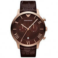Buy Emporio Armani Watches AR1616 Mens  Brown Leather Watch online